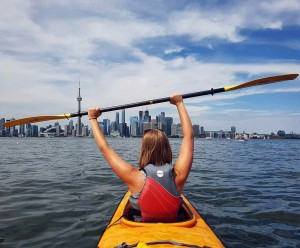 Here is a photo of me loving water. This past summer I went kayaking through the Toronto Islands!
